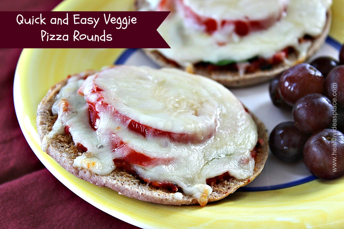 Quick and Easy Veggie Pizza Rounds
