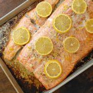 Baked Salmon with Lemon-Dill Sauce