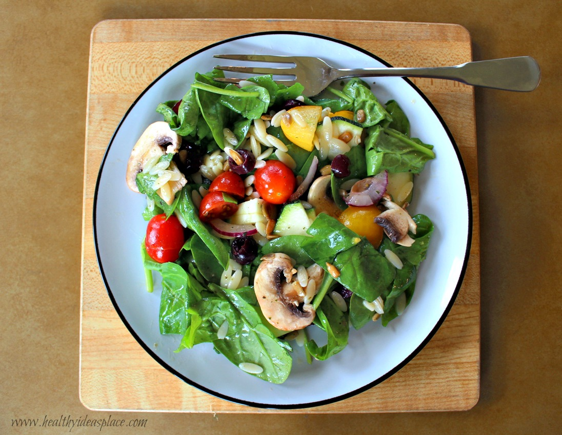 Spinach and Orzo Salad - Healthy Ideas Place