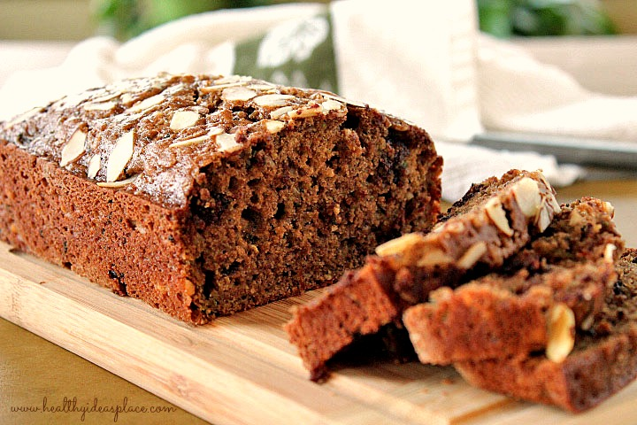 Zucchini Bread with Dark Chocolate and Dried Cherries