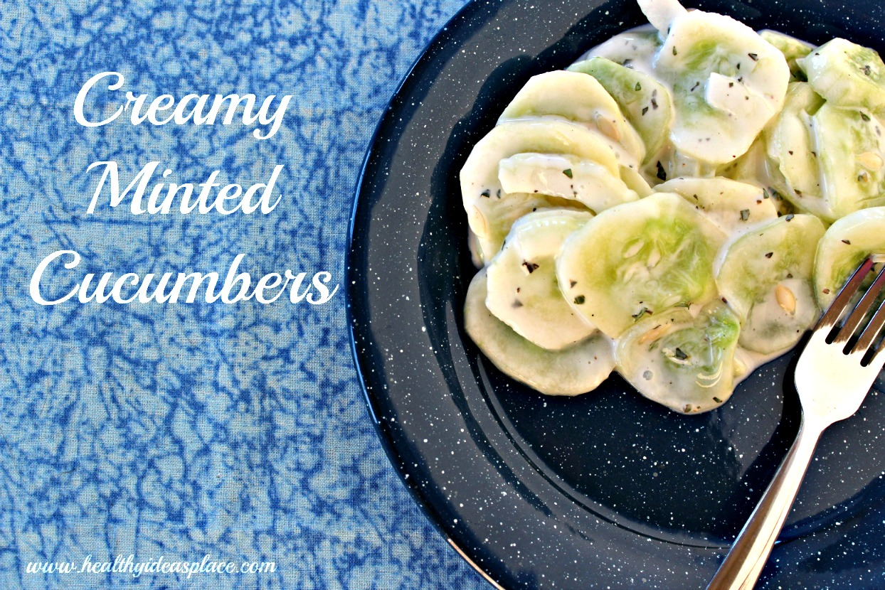Creamy Minted Cucumbers