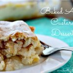 Baked Apple Custard Dessert