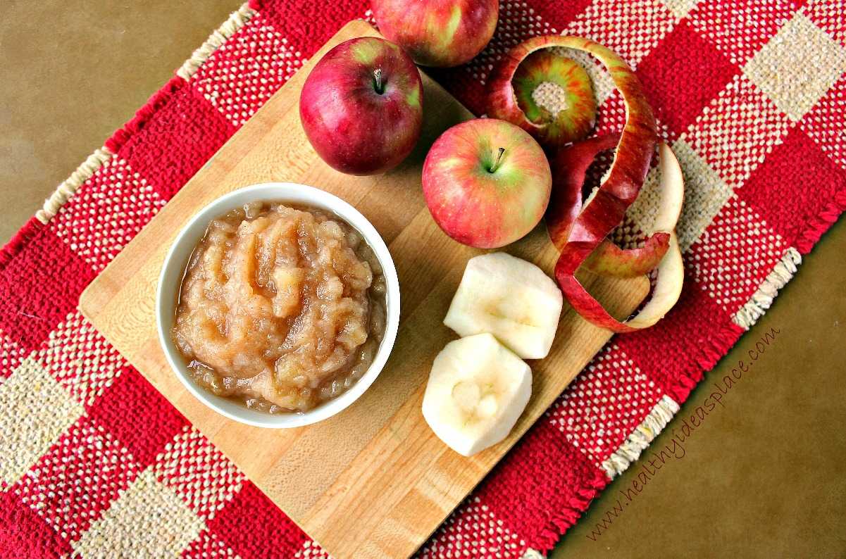 How to make applesauce healthy ideas place for What to make with leftover applesauce