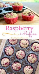 Raspberry Muffins - A summertime treat filled to the brim with sweet raspberries, a hint of lemon, and nourishing whole grains.