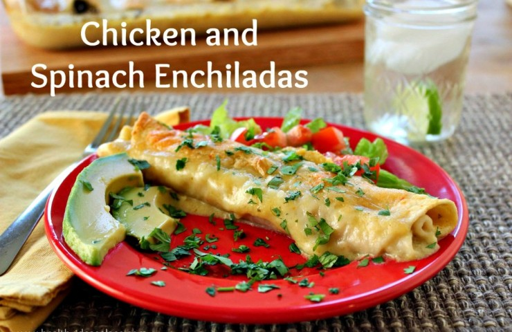 Chicken and Spinach Enchiladas