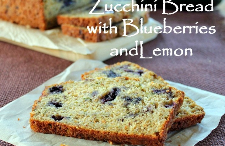 Zucchini Bread with Blueberries and Lemon