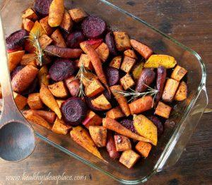 Maple Balsamic Roasted Winter Vegetables