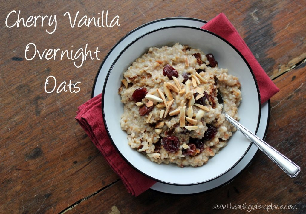 Cherry Vanilla Overnight Oats