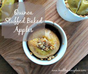 Quinoa Stuffed Baked Apples