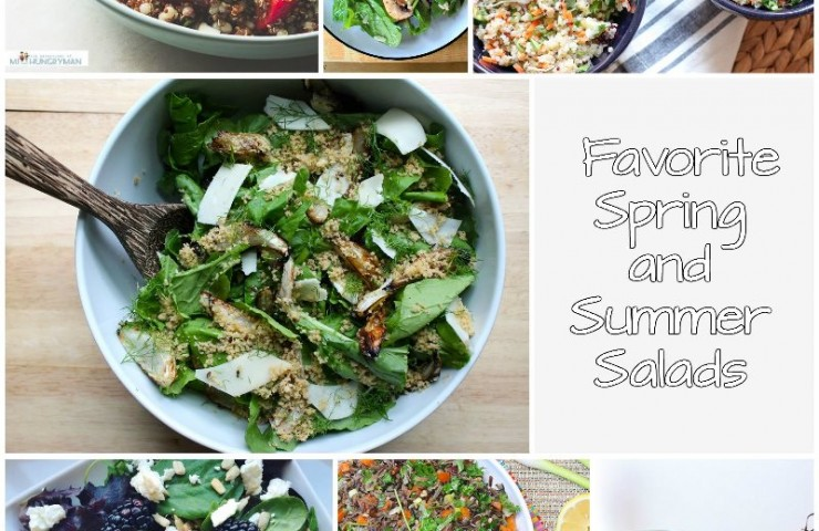 Favorite Spring and Summer Salads Recipe Round-Up
