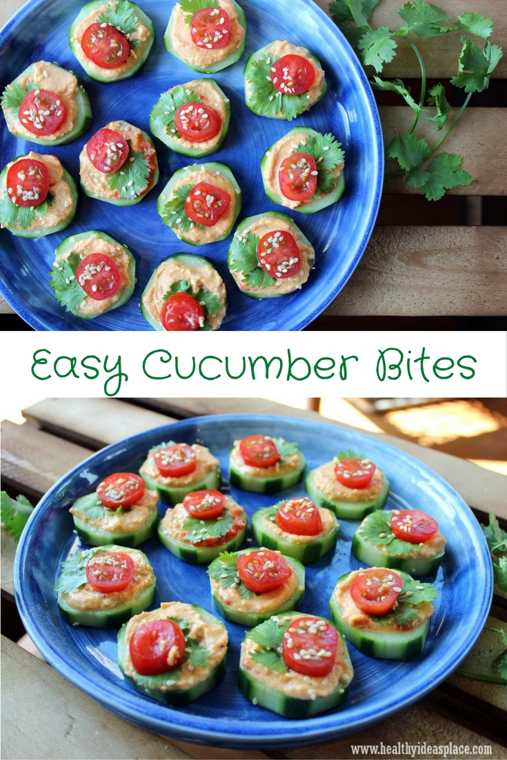 Easy Cucumber Bites are quick and easy to make, healthy, and pleasing to the palette. Just right for a snack or to share with friends.