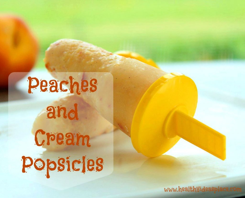 & Cream Popsicles. . . Sweet, juicy peaches and creamy Greek yogurt ...