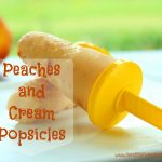 Peaches & Cream Popsicles