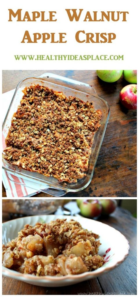 Each bite is filled with sweet, soft-cooked apples, and crunchy oat and walnut topping, all with subtle maple undertones.