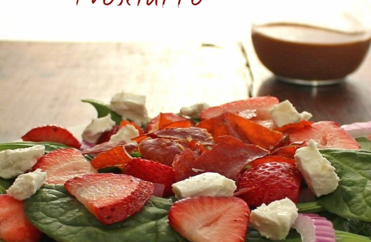 Strawberry Spinach Salad with Crispy Proscuitto