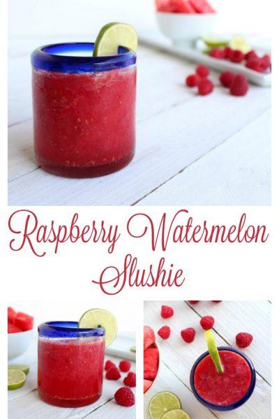 Raspberry Watermelon Slushies