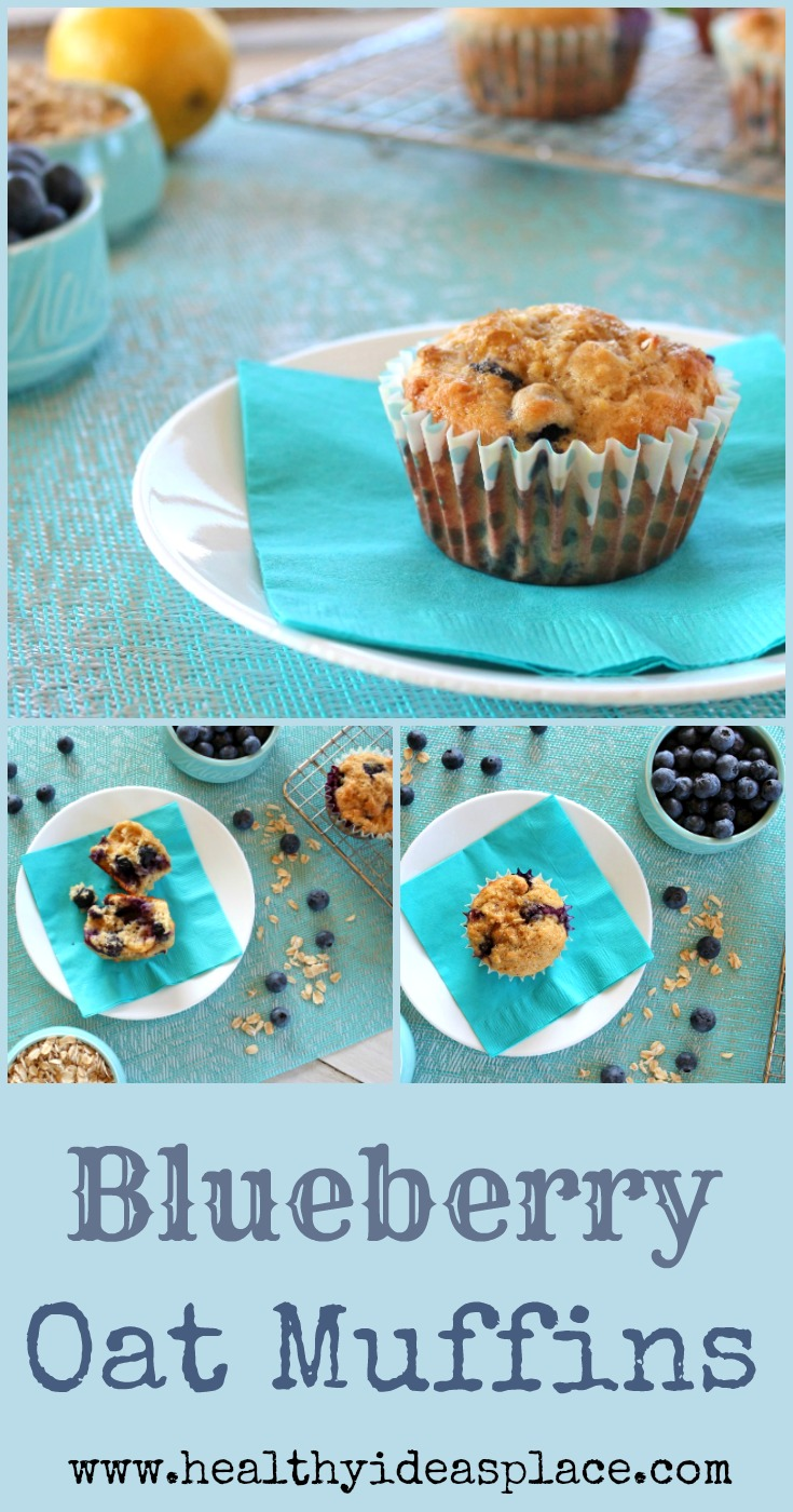 Blueberry Oat Muffins - mouthwatering, homemade blueberry muffins ...