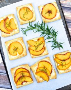 Peach, Rosemary, and Brie Tartlets from Danielle at The Every Kitchen