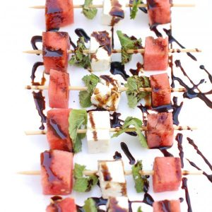 Watermelon, Feta, and Mint Skewers from Jessica at Nutritioulicious