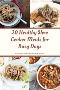 These twenty favorite slow cooker recipes from dietitians make it easier to put together a healthy meal for your family when life gets busy.