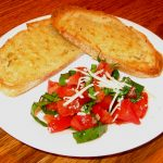 Basil and Tomatoes with Bruschetta