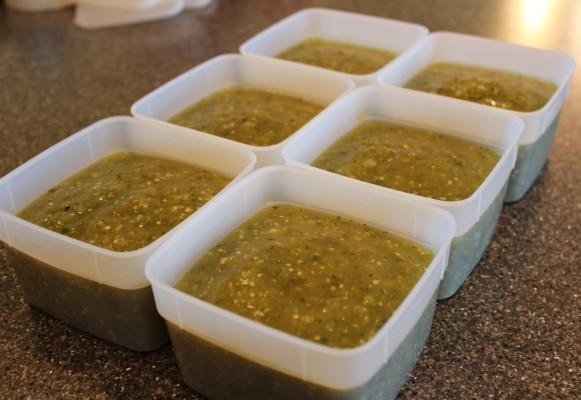 Easy Green Sauce for Freezing