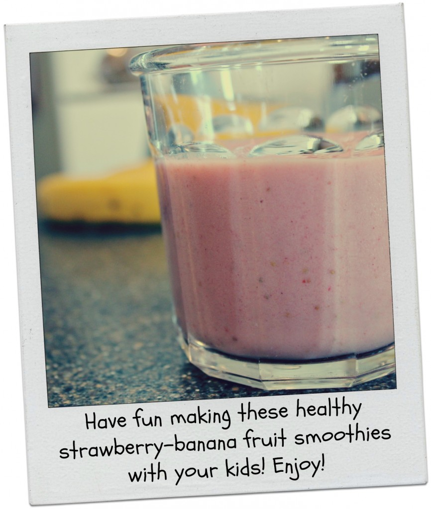 Cooking with kids fruit smoothies 12