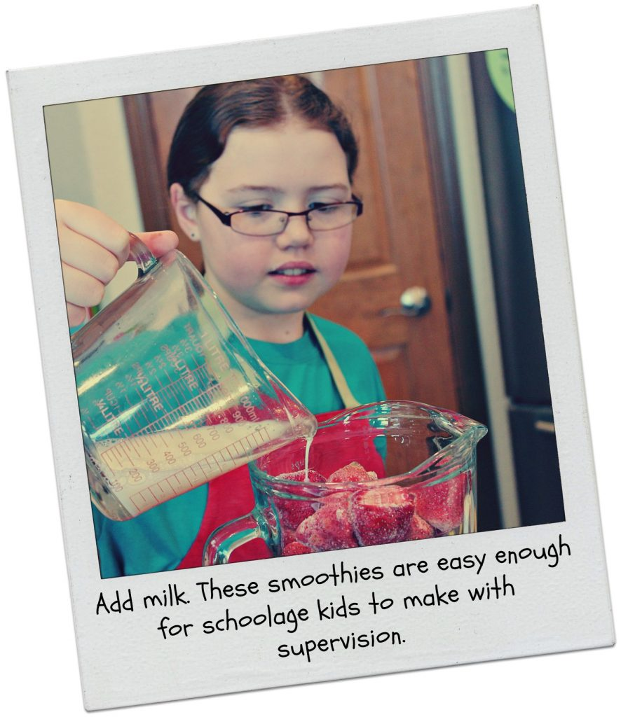 Cooking with kids fruit smoothies 4