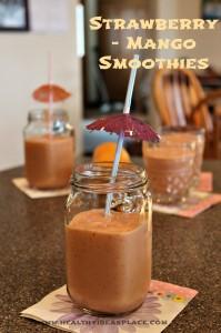 Strawberry - Mango smoothies