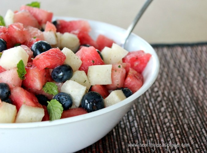 Watemelon and Blueberry Salad with Mint 3