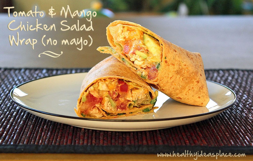 Tomato and Mango Chicken Salad Wrap copy