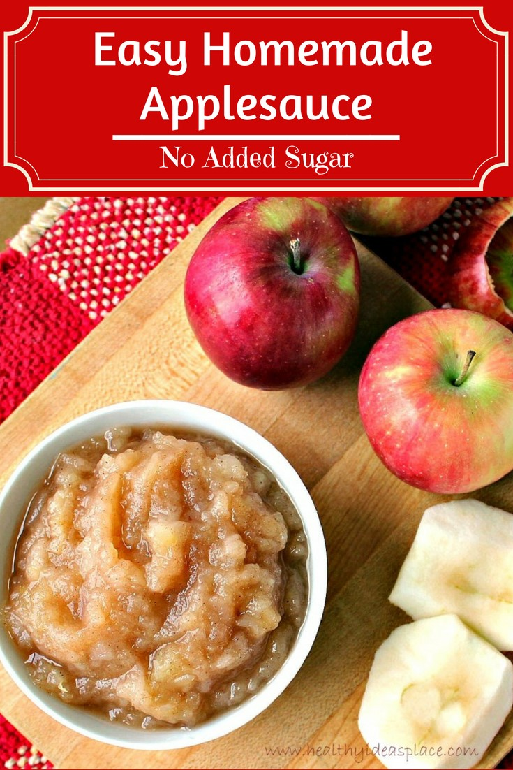 Homemade Chunky Applesauce is easy to make and delicious! Perfect for snacks, breakfast, or a light dessert. No added sugar option too!