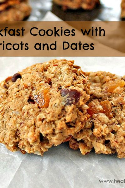 Breakfast Cookies with Apricots and Dates