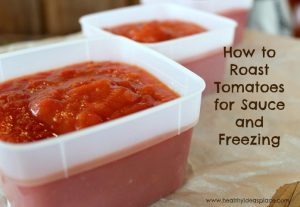 How to Roast Tomatoes for Sauce and Freezing