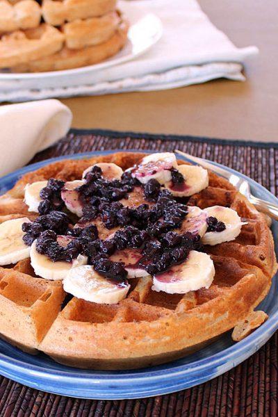 Healthier Homemade Waffles