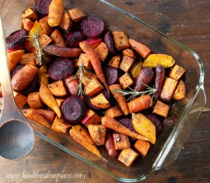 Maple Balsamic Roasted Winter Vegetables