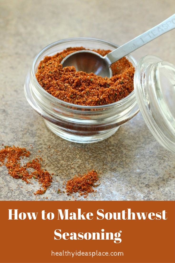 How to Make Southwest Seasoning Mix - This Southwest Seasoning Mix is quick and easy to make, salt-free but packed with flavor and a little bit of heat.