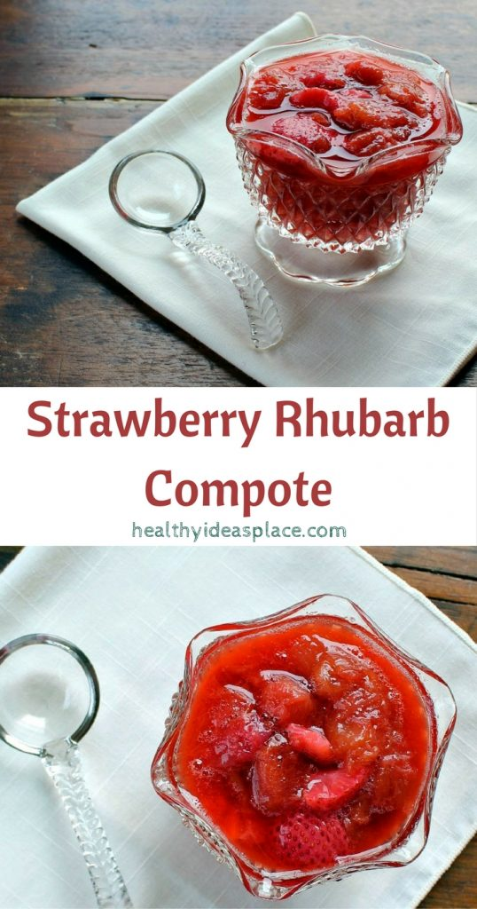 Enjoy the taste of spring and summerwith this bright and delightfulStrawberry Rhubarb Compote.