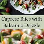 Caprese Bites with Balsamic Drizzle