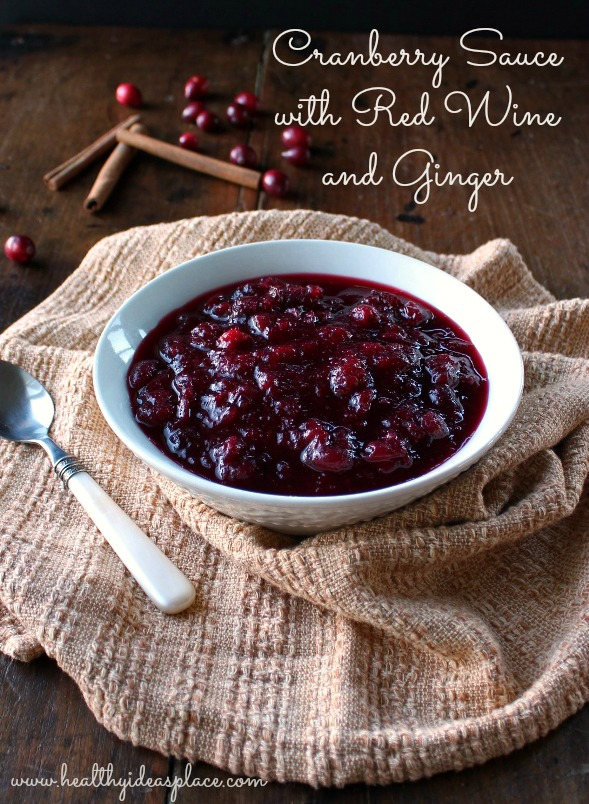 Cranberry Sauce with Red Wine and Ginger