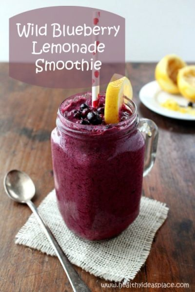 Wild Blueberry Lemonade Smoothie