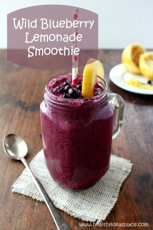 Wild Blueberry Lemonade Smoothie