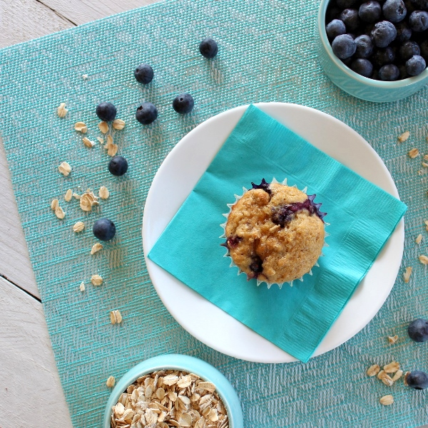 Blueberry Oat Muffins - mouthwatering, homemade blueberry muffins filled to the brim with fresh blueberries and whole grains are nourishing and filling.