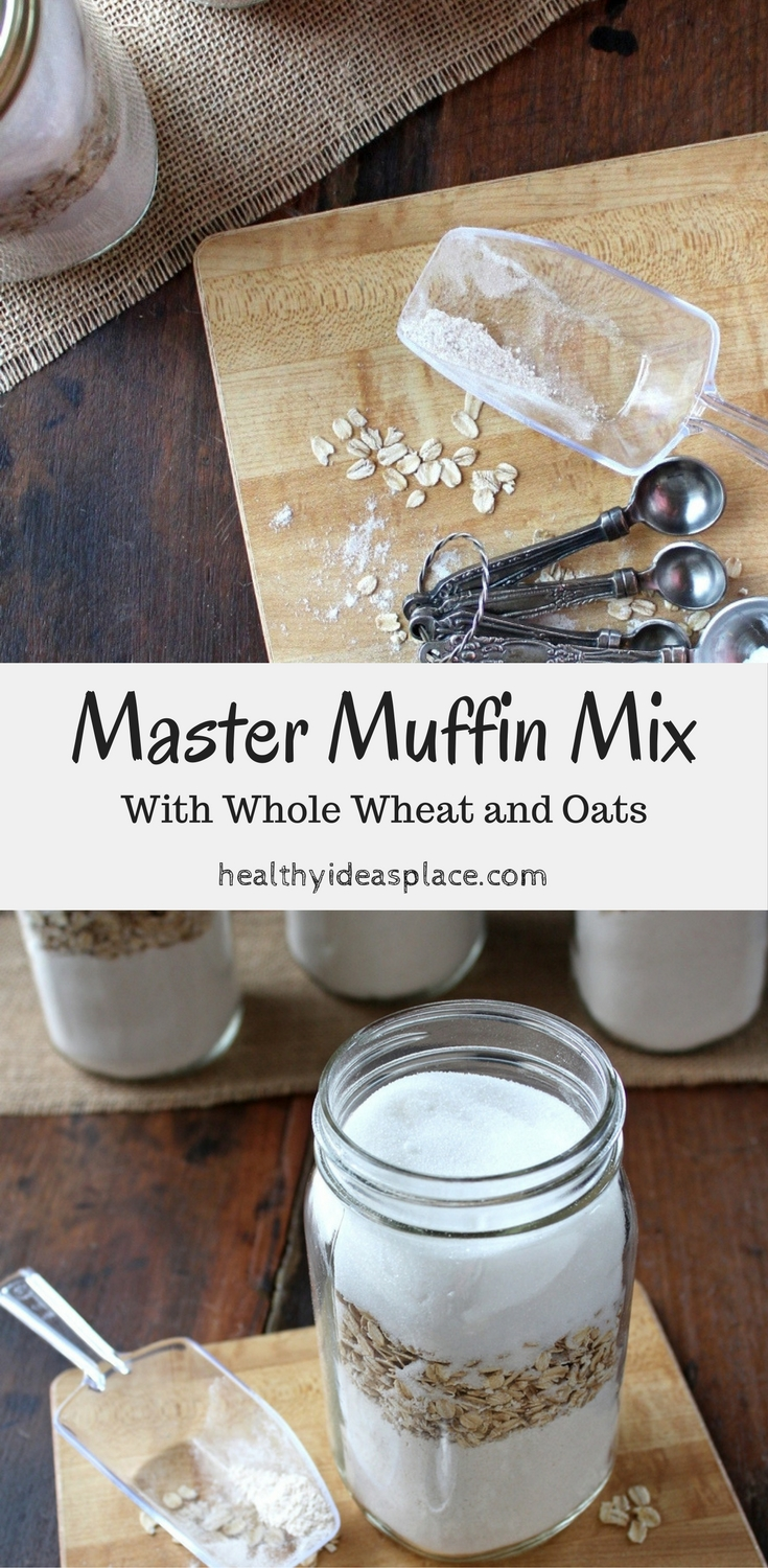 Master Muffin Mix with Whole Wheat and Oats helps you get a nourishing breakfast ready for your family when they need something quick. Includes a recipe for Banana Chocolate Chip Muffins