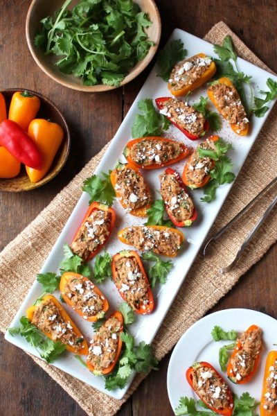 Southwest Tuna Stuffed Mini Peppers