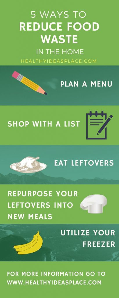 5 Ways to Reduce Food Waste in the Home - Americans throw out lots of food each year. But there are things you can do in your home to help reduce food waste. Here are five ideas to get you started.