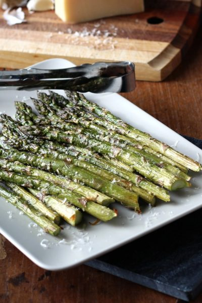 Roasted Asparagus with Parmesan and Garlic