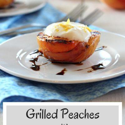 Grilled Peaches with Honey and Lemon Yogurt Sauce