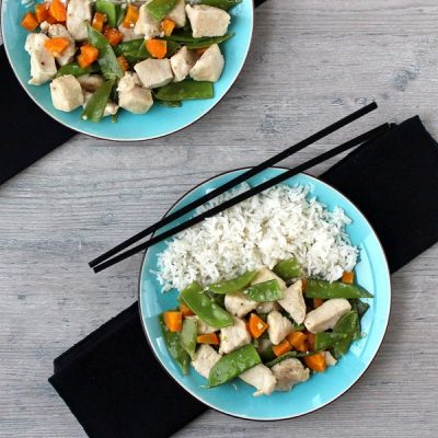 Chicken Snow Pea Skillet {Plus a Giveaway!}