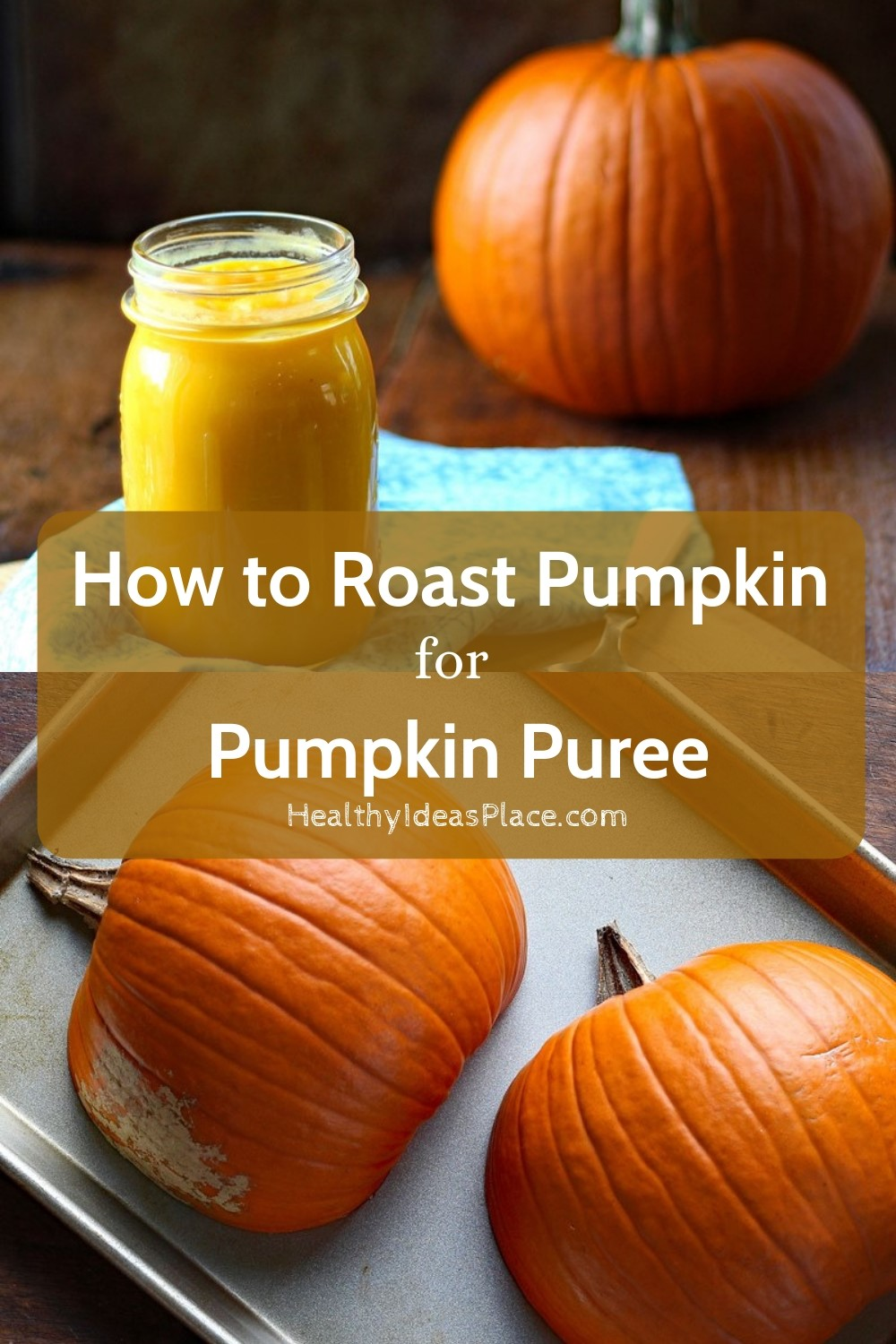 It's easy to roast pumpkin for pumpkin puree! The flavor can't be beat and it's a great way to use up any pie pumpkins you may have had around for decorations instead of throwing them away.